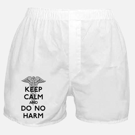 Keep  Calm Do No Harm Boxer Shorts