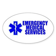 EMS Oval Decal