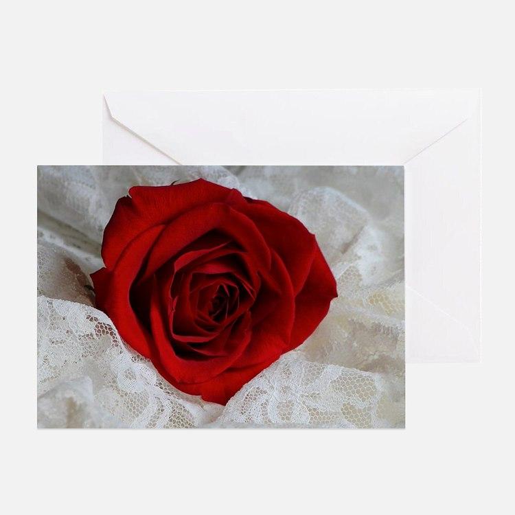 Wonderful Red Rose Greeting Card