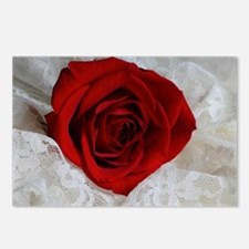 Wonderful Red Rose Postcards (Package of 8)