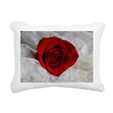 Wonderful Red Rose Rectangular Canvas Pillow