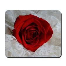 Wonderful Red Rose Mousepad