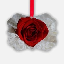 Wonderful Red Rose Ornament