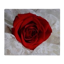 Wonderful Red Rose Throw Blanket