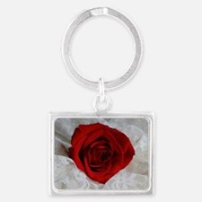 Wonderful Red Rose Landscape Keychain
