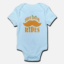 Free irish mustache rides Infant Bodysuit