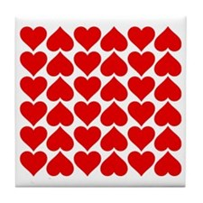 Red Heart of Love Tile Coaster