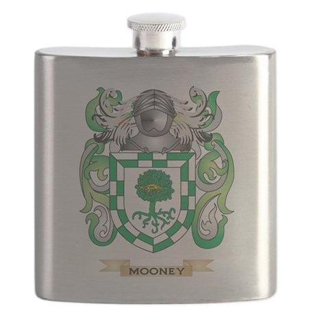 Mooney Coat of Arms - Family Crest Flask