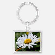 White Flower Landscape Keychain