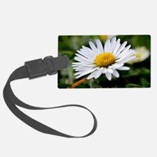 White Flower Luggage Tag