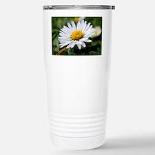 White Flower Stainless Steel Travel Mug