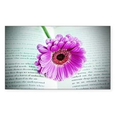 Wonderful Flower with Book Decal