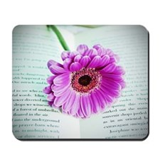 Wonderful Flower with Book Mousepad