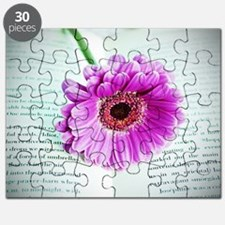 Wonderful Flower with Book Puzzle