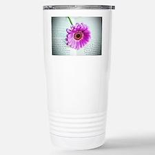 Wonderful Flower with B Stainless Steel Travel Mug