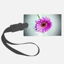 Wonderful Flower with Book Luggage Tag