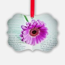 Wonderful Flower with Book Ornament