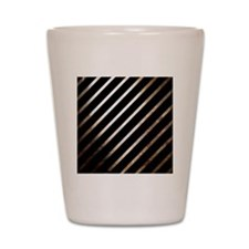 Vintage Rustic Style Stripes Shot Glass
