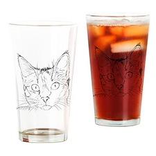 Cat Sketch Drinking Glass