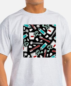 Dental Print Black with Red and Blue T-Shirt