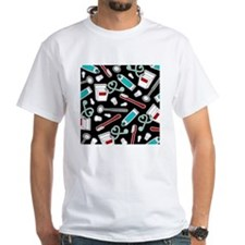 Dental Print Black with Red and Blue Shirt
