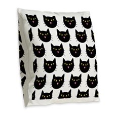 Cats Burlap Throw Pillow