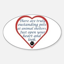 Open Your Heart Oval Bumper Stickers