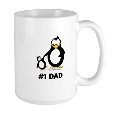 Number 1 Dad Penguin Mugs