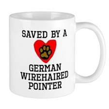 Saved By A German Wirehaired Pointer Mugs