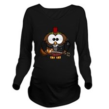 Owl Long Sleeve Maternity T-Shirt