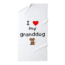 I love my granddog (3) Beach Towel