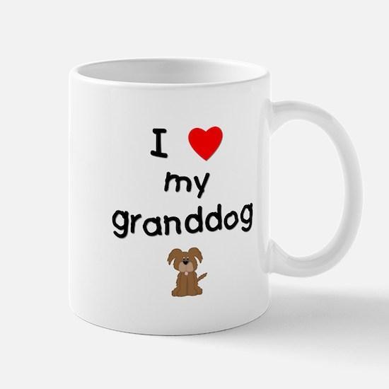 I love my granddog (3) Mug