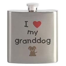 I love my granddog (3) Flask
