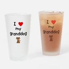 I love my granddog (3) Drinking Glass