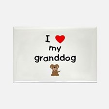 I love my granddog (3) Rectangle Magnet