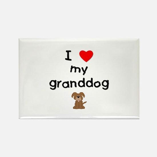 I love my granddog (3) Rectangle Magnet