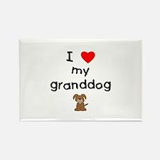 I love my granddog (3) Rectangle Magnet (10 pack)