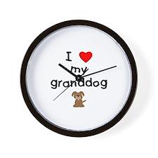 I love my granddog (3) Wall Clock