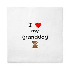 I love my granddog (3) Queen Duvet