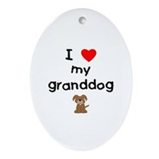 I love my granddog (3) Ornament (Oval)