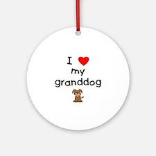 I love my granddog (3) Ornament (Round)