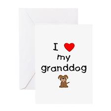 I love my granddog (3) Greeting Card