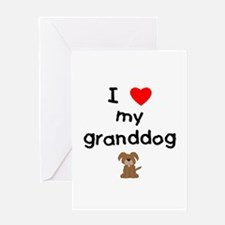I love my granddog (3) Greeting Card