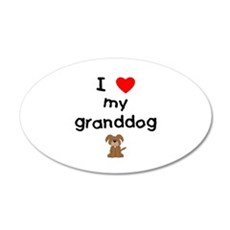 I love my granddog (3) Wall Decal