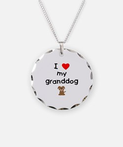 I love my granddog (3) Necklace