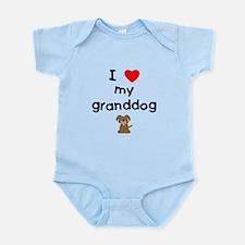 I love my granddog (3) Infant Bodysuit