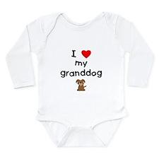 I love my granddog (3) Long Sleeve Infant Bodysuit