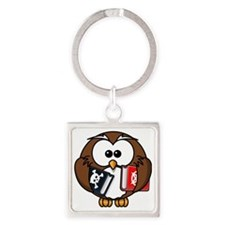 Owl Square Keychain