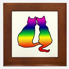 Cats in Love Framed Tile