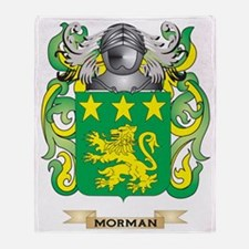 Morman Coat of Arms - Family Crest Throw Blanket